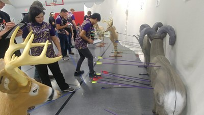 CHS archers compete in the 3D tournament.