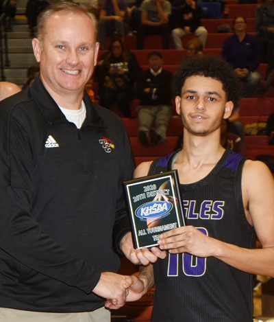 CHS senior Mikael Vaught is named to the all-tournament team.