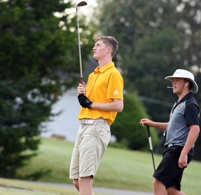CHS junior Tristin Faulkner watches his shot.