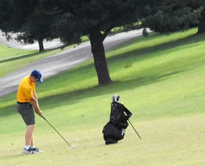 CHS junior Colin Harris hits the ball.