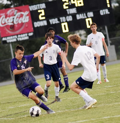 CHS freshman Chase Hord protects the ball.