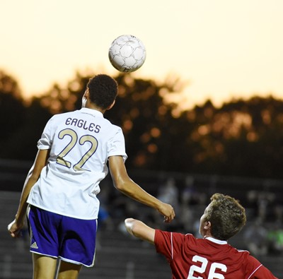 CHS sophomore Brice Spaw bounces the ball.