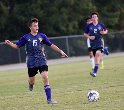 CHS freshman Chase Hord kicks the ball.