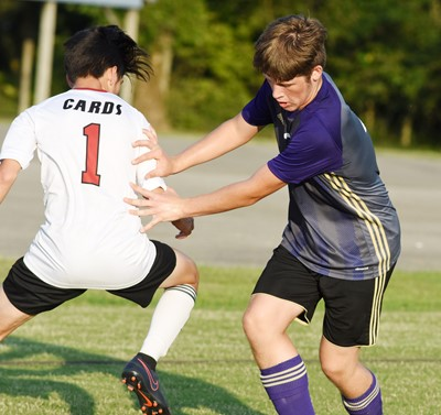 CHS sophomore Josh Lucas plays defense.