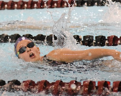 Campbellsville Middle School eighth-grader Mollie Bailey swims.
