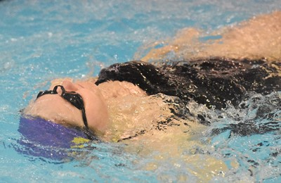 CHS sophomore Isabella Vannice swims.