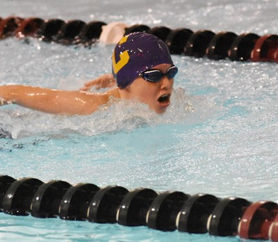 Campbellsville Elementary School fifth-grader Laityn Gray swims.