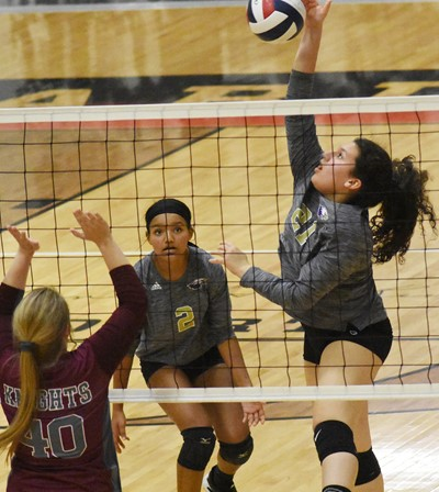 CHS junior Anna Clara Moura hits the ball.