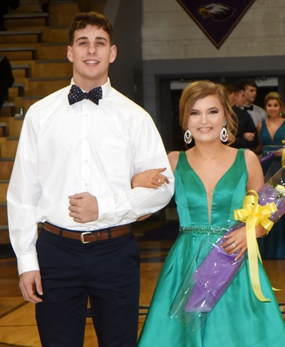 John Orberson and Carly Adams represented the junior class.
