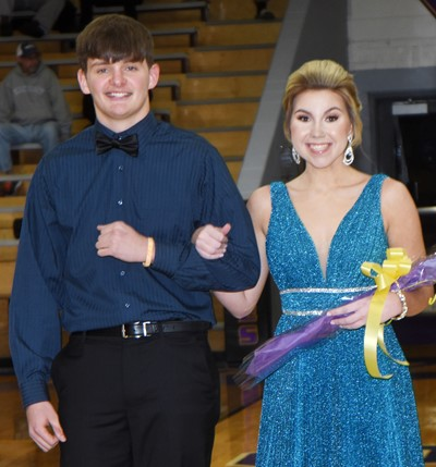 Blake Allen and Lauryn Agathen represented the senior class.