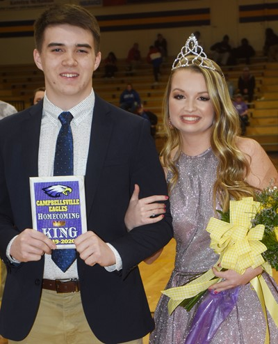 CHS crowned seniors Cole Kidwell and Kaleigh Hunt as its basketball homecoming king and queen on Thursday, Feb. 13.