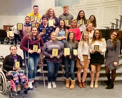 CHS Beta Club members competed at the annual Central Kentucky Beta Invitational recently and brought home several awards. Award winners are, from left, seniors Jewell Cox, Katelyn Miller, Aleah Knifley, Gracyne Hash, Kaleigh Hunt, Taliyah Hazelwood and Sydney Wilson. Second row, freshman Ronin Smith, sophomore Peyton Dabney and seniors Zoe McAninch, Lauryn Agathen and Haleigh Murphy. Back, seniors Gavin Johnson and Emily Rodgers, sophomore Blake Settle, junior Anna Clara Moura and sophomore Bia Moura.