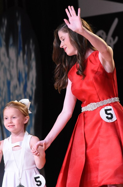 CHS senior Gracyne Hash participates in the self-expression portion of the DYW program with her little sister.