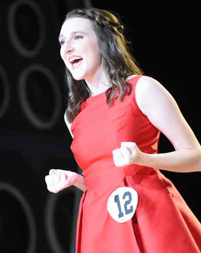 CHS senior Zoe McAninch won scholastic and fitness awards at this year's DYW program.