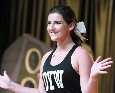 CHS senior Alli Wilson participates in the fitness portion of the DYW program.