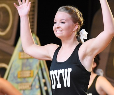 CHS senior Kaleigh Hunt participates in the fitness portion of the DYW program.