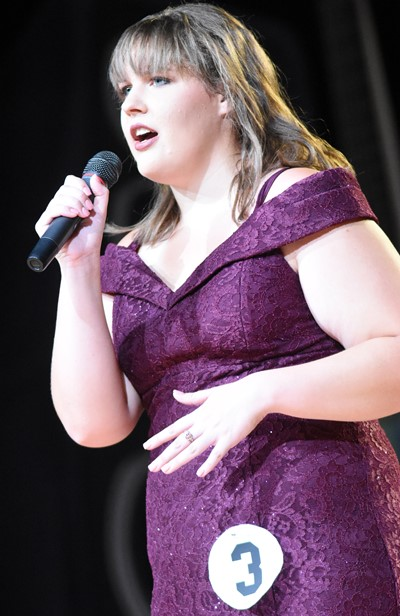 CHS senior Abie Angel participates in the talent portion of the DYW program.