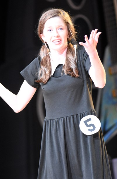 CHS senior Gracyne Hash participates in the talent portion of the DYW program.
