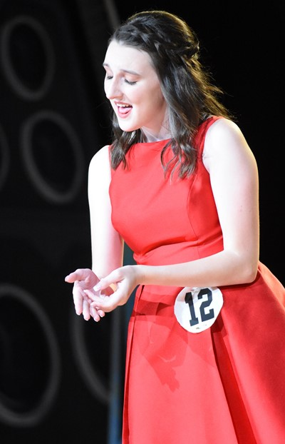 CHS senior Zoe McAninch participates in the talent portion of the DYW program.