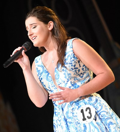 CHS senior Alli Wilson participates in the talent portion of the DYW program.