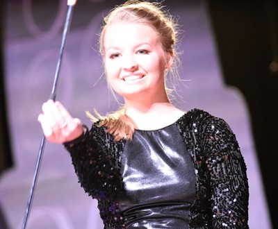 CHS senior Kaleigh Hunt participates in the talent portion of the DYW program.