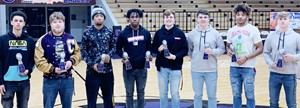 CHS football players recently received awards at this year's banquet. Award winners are, from left, seniors Mikael Vaught, Devon Reardon, Lathan Cubit, Malachi Corley, Tyler Gribbins and Cole Kidwell and juniors Reggie Thomas and Blase Wheatley. Absent from the photo are senior Gideon Richards and junior Arren Hash.