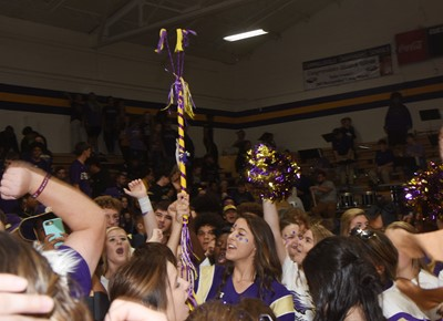 CHS students steal the spirit stick from CMS.