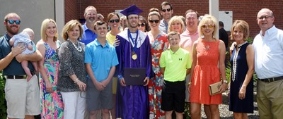 CHS senior Layton Hord smiles for a photo with his extended family.