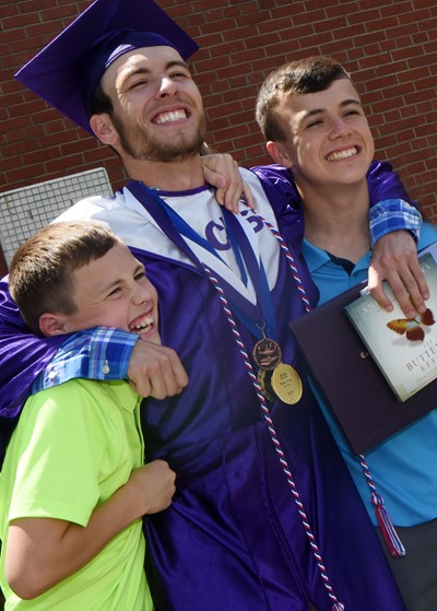 CHS senior Layton Hord smiles for a photo with his brothers, Keaton, at left, and Chase.