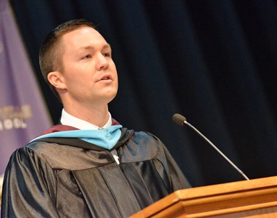 CHS Principal Weston Jones addresses the graduating class.