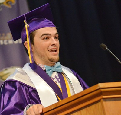 CHS senior Ryan Kearney delivers his salutatory address.