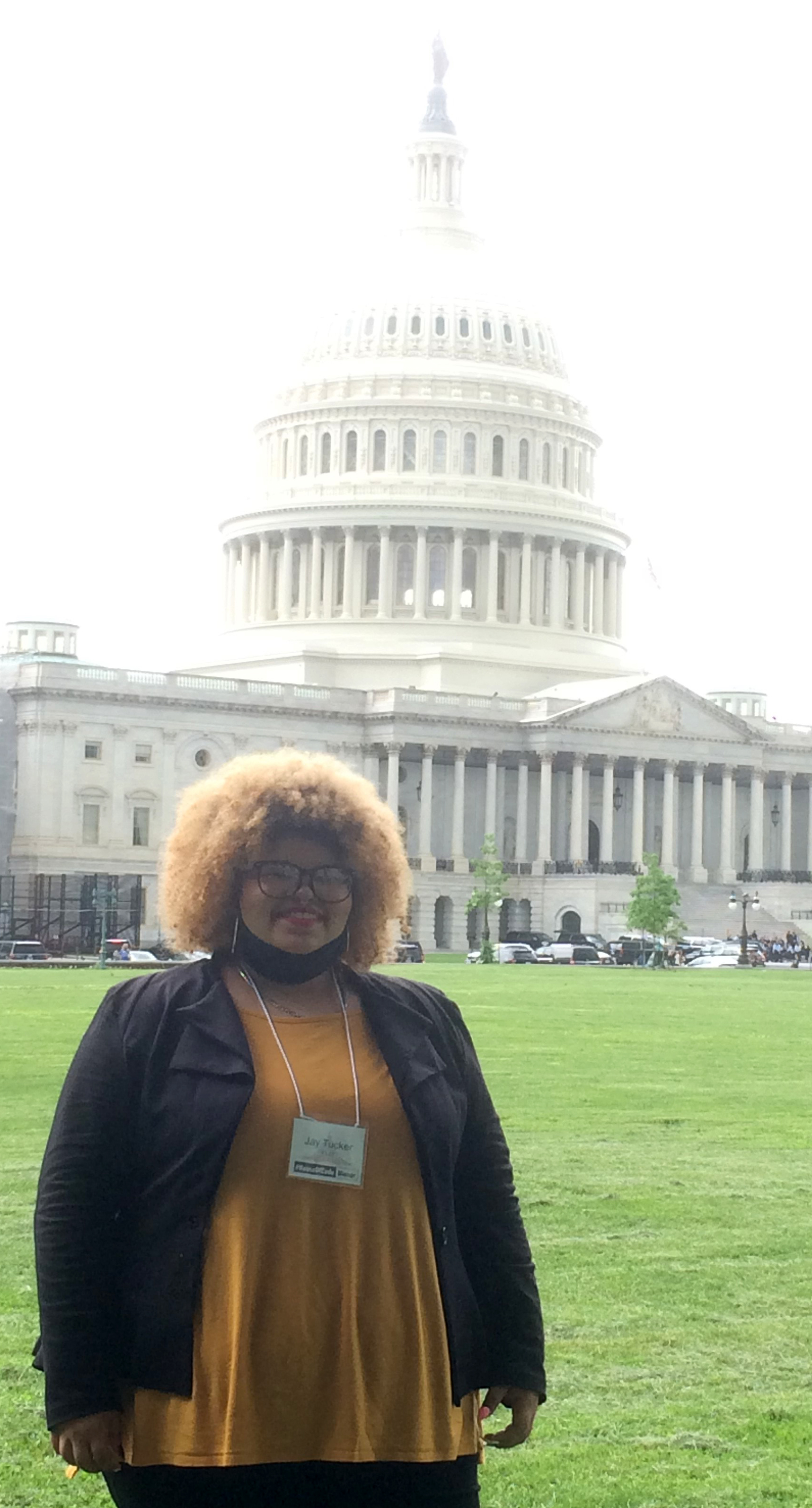 Campbellsville High School senior Jay Tucker was recently honored in Washington, D.C., for winning the First District Congressional App Challenge. She took a tour of Capitol Hill during the events.