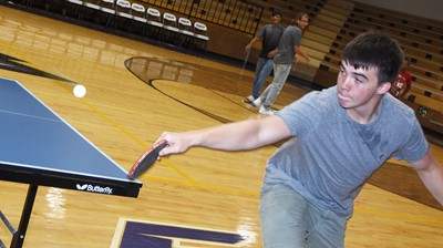 CHS senior Cole Kidwell plays ping pong.