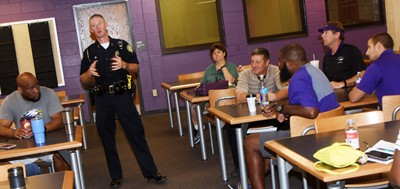 SRO Charlie Houk discusses school safety.