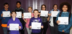 CMS Exceeding Eagles for the week of Oct. 21 are, from left, front, sixth-grader Destiny Abell, iEagle fifth-grader Lanigan Price and sixth-grader Christian Hart. Back, seventh-grader Landon Arnett, eighth-grader Devin Kinser, iEagle seventh-grader Vallie Houk and seventh-graders Halley Wooley and Kaylyn Lawson.
