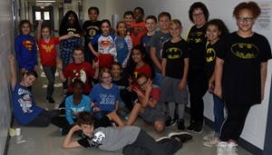 iEagle students dress for Be a Hero, Not a Bully, Be Drug Free Day.