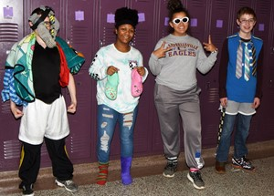 CMS students dress for Bullying is Whack Day.