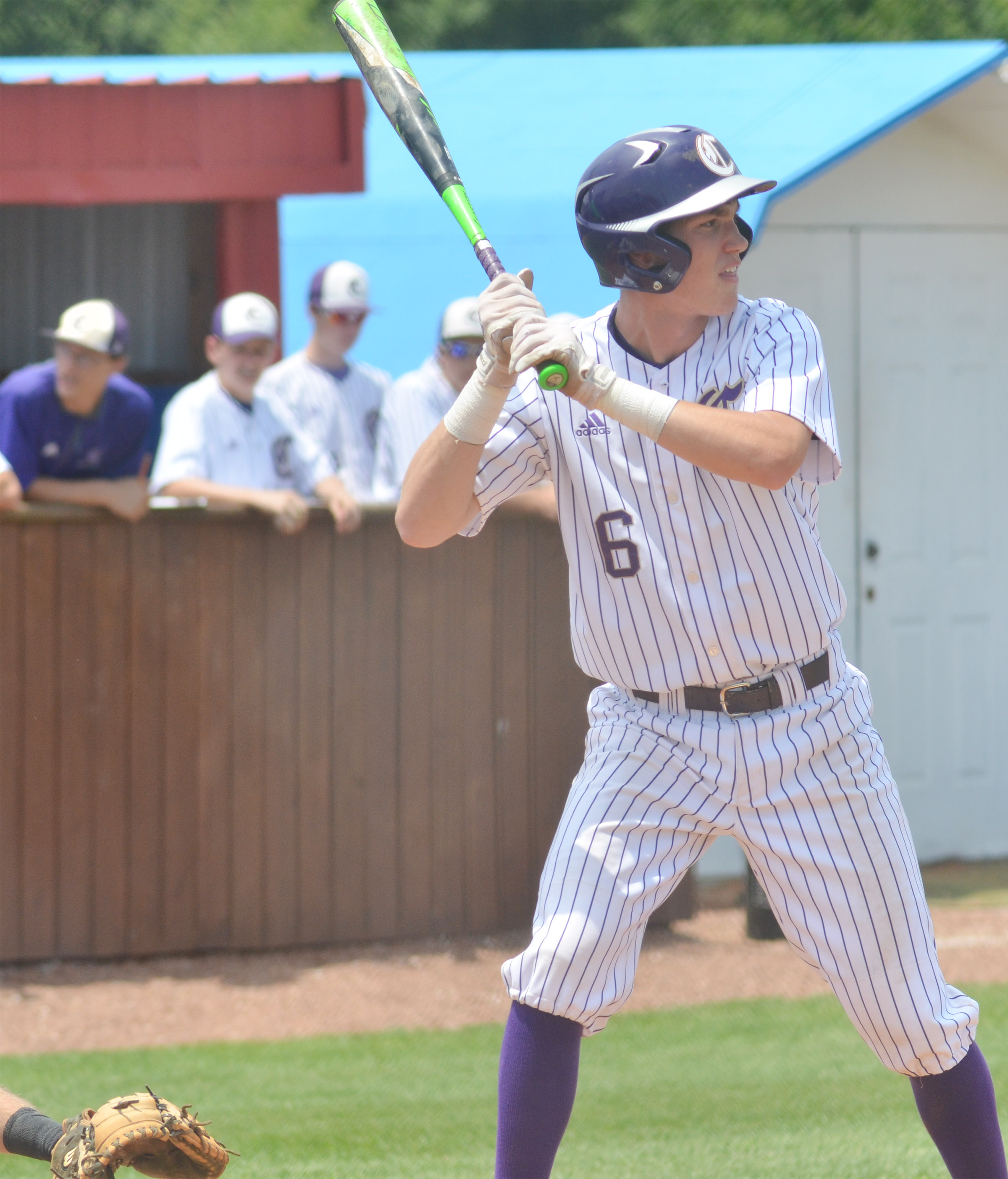 CHS senior Zack Bottoms bats.