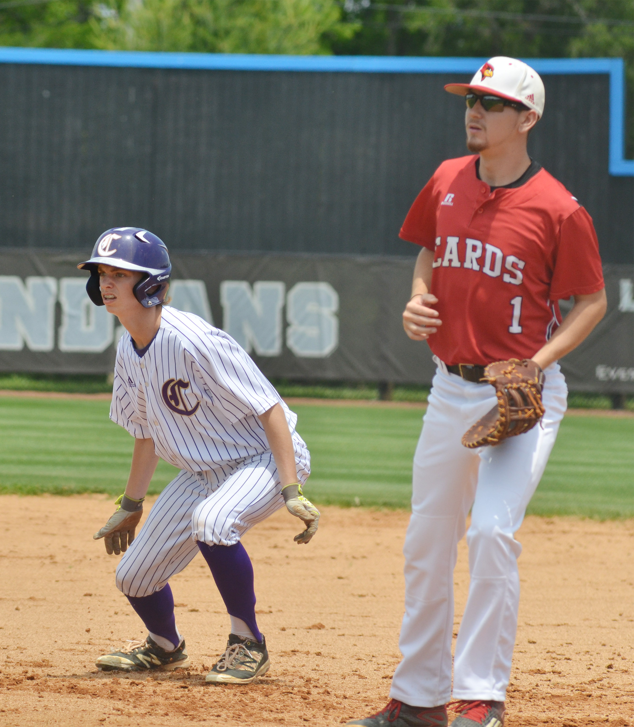 Campbellsville Middle School eighth-grader Arren Hash runs toward second.