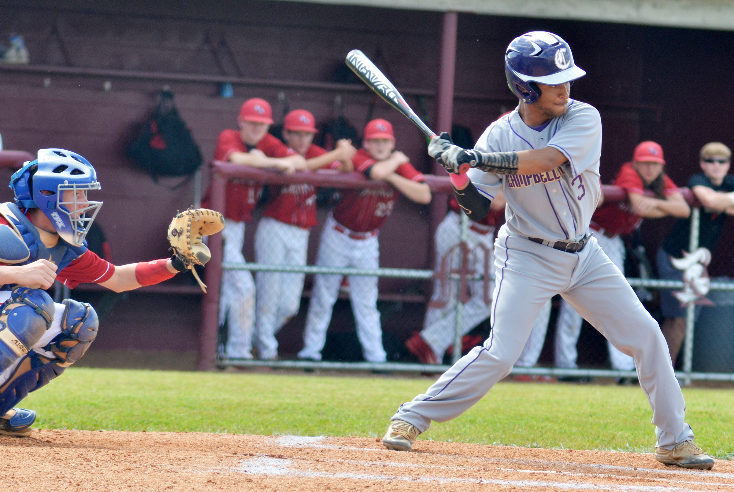 CHS junior Ethan Lay bats.
