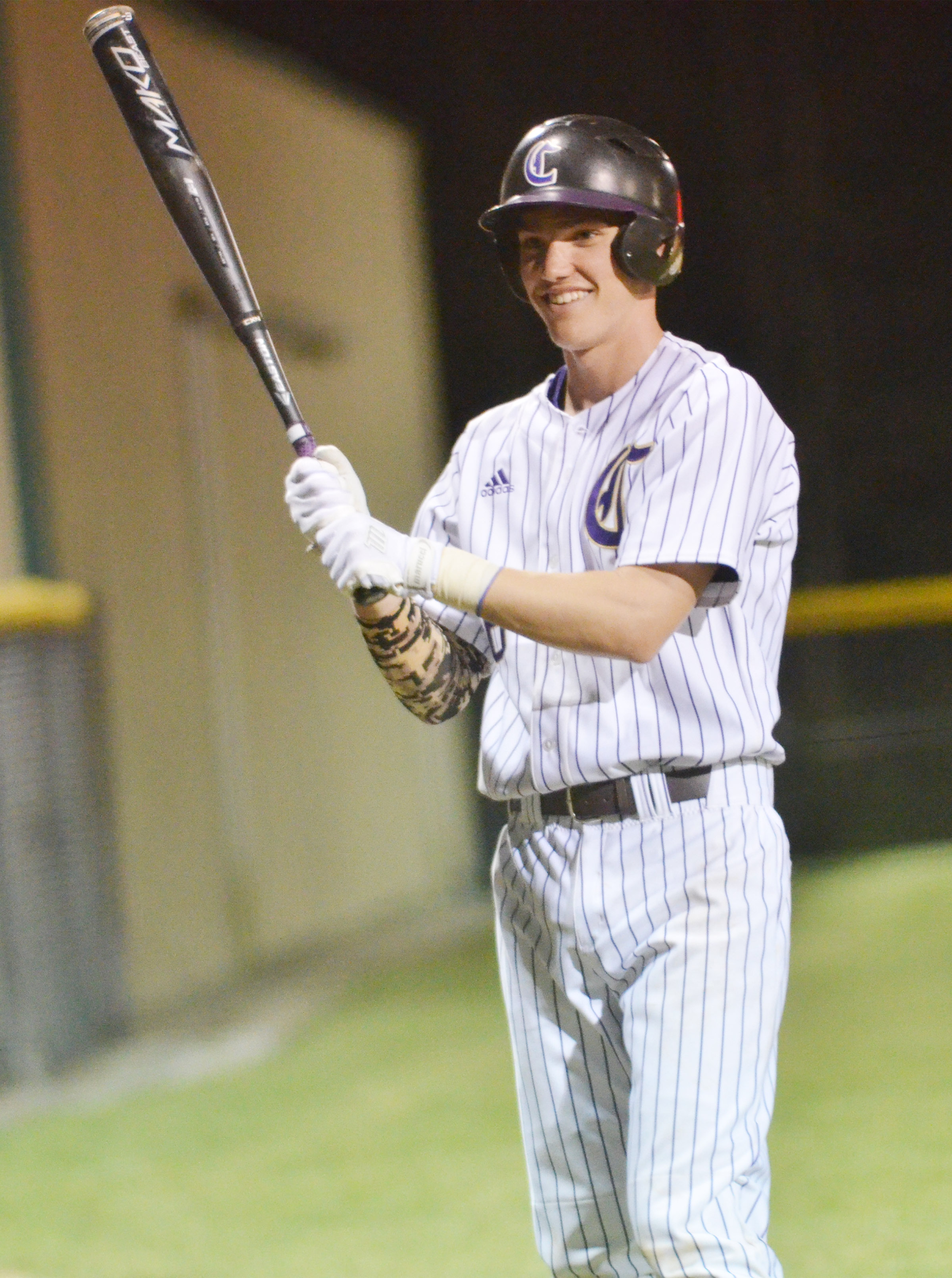 CHS senior Zack Bottoms gets ready to bat.