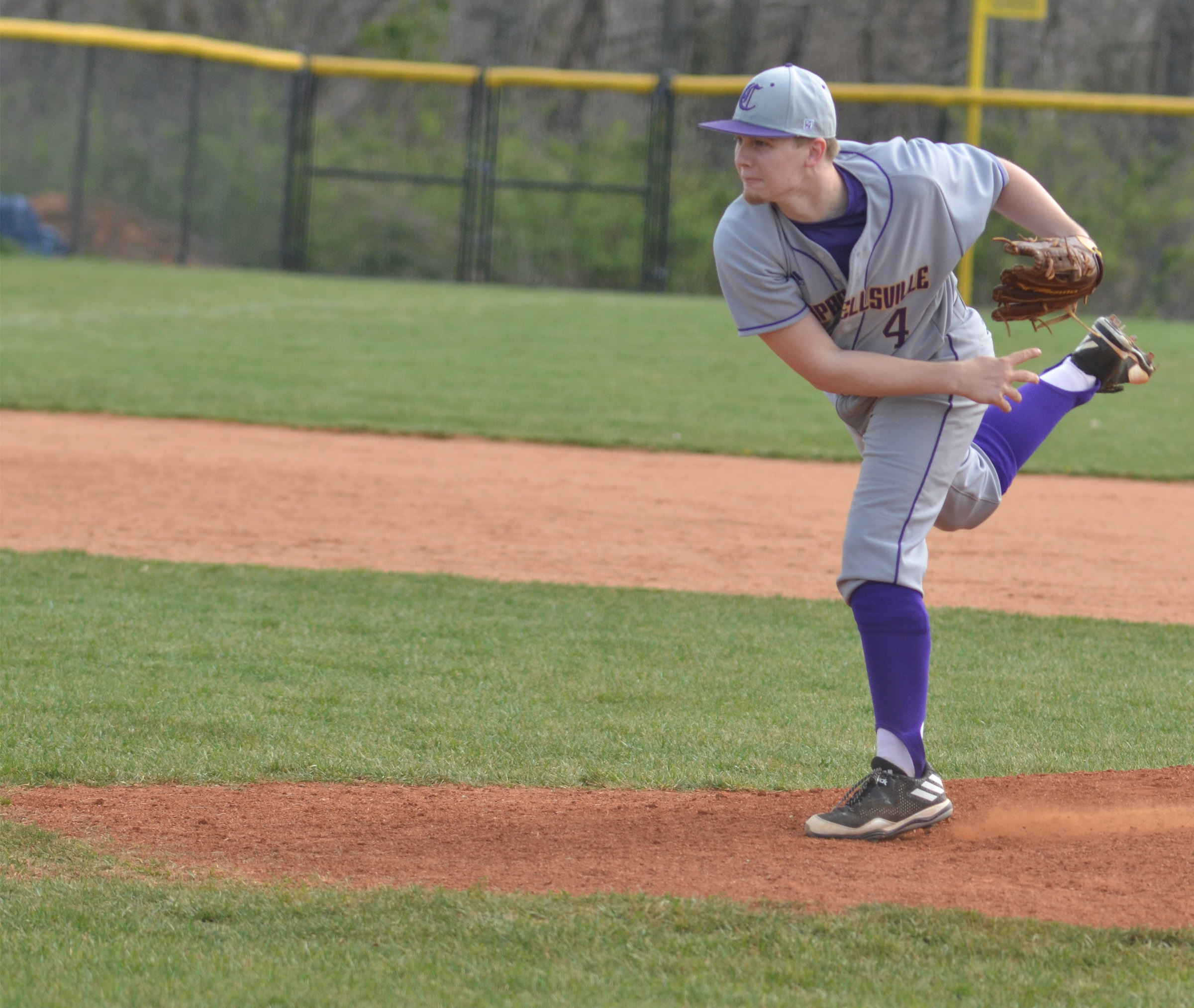 CHS junior Wyatt Houk pitches.