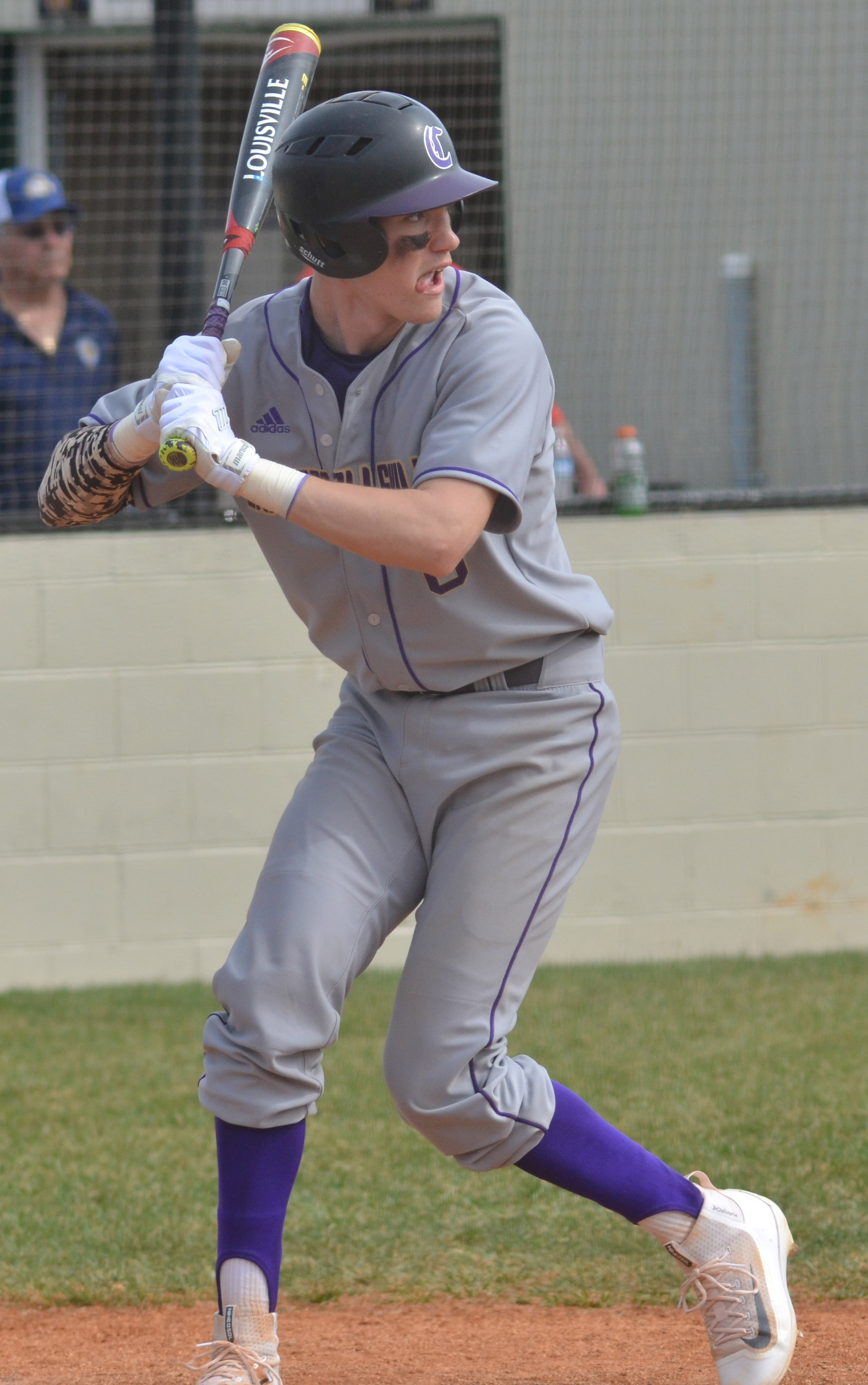 CHS senior Zack Bottoms swings.
