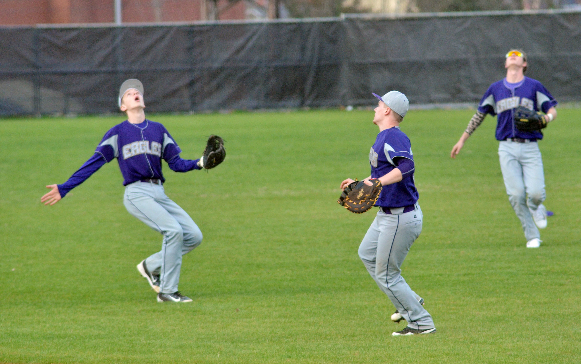 CHS freshman Noah Hughes, at left, calls the ball.