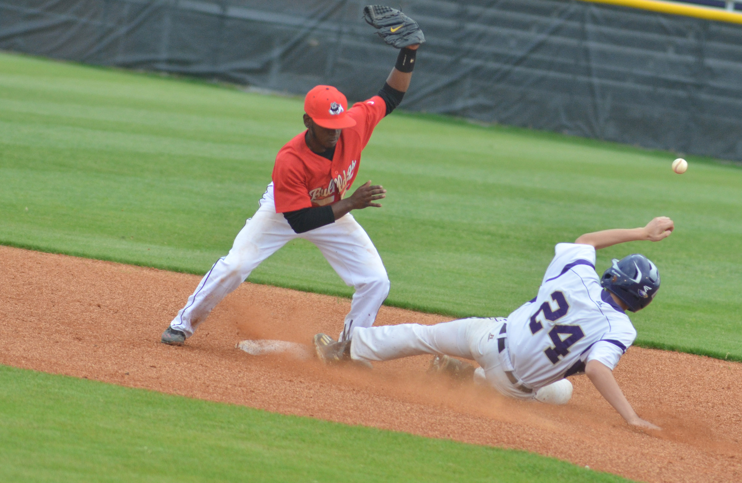 CHS freshman Brennon Wheeler is safe at second.