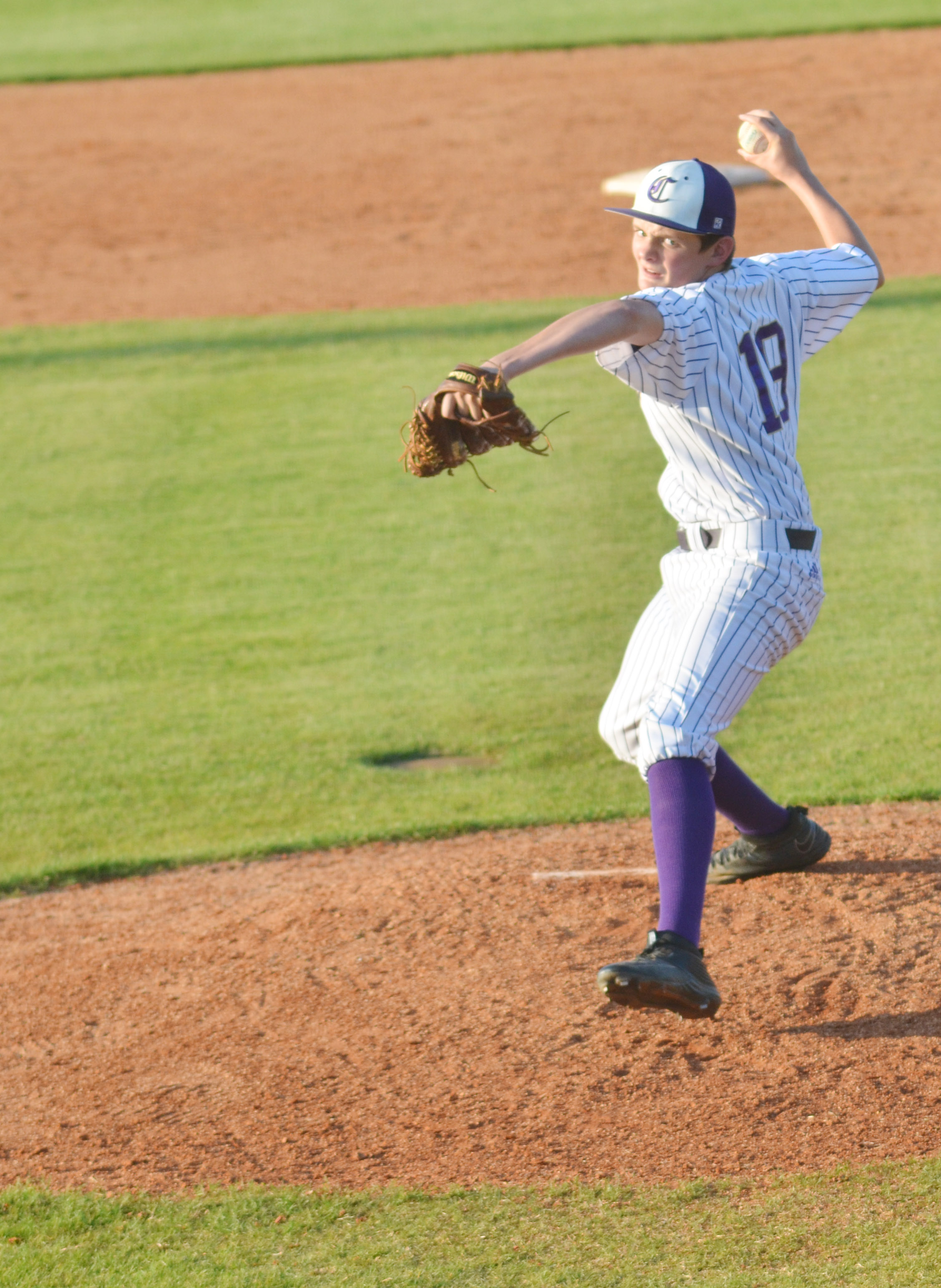 CHS freshman Blake Allen pitches.