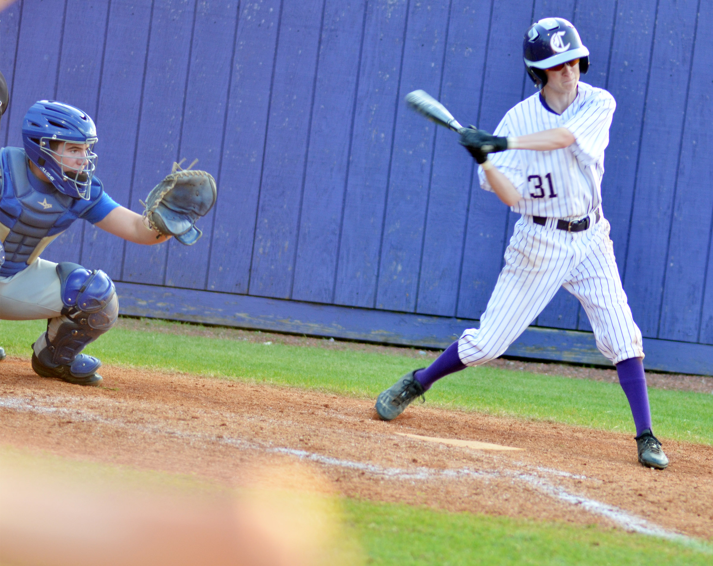 CHS sophomore Jackson Hinton swings.