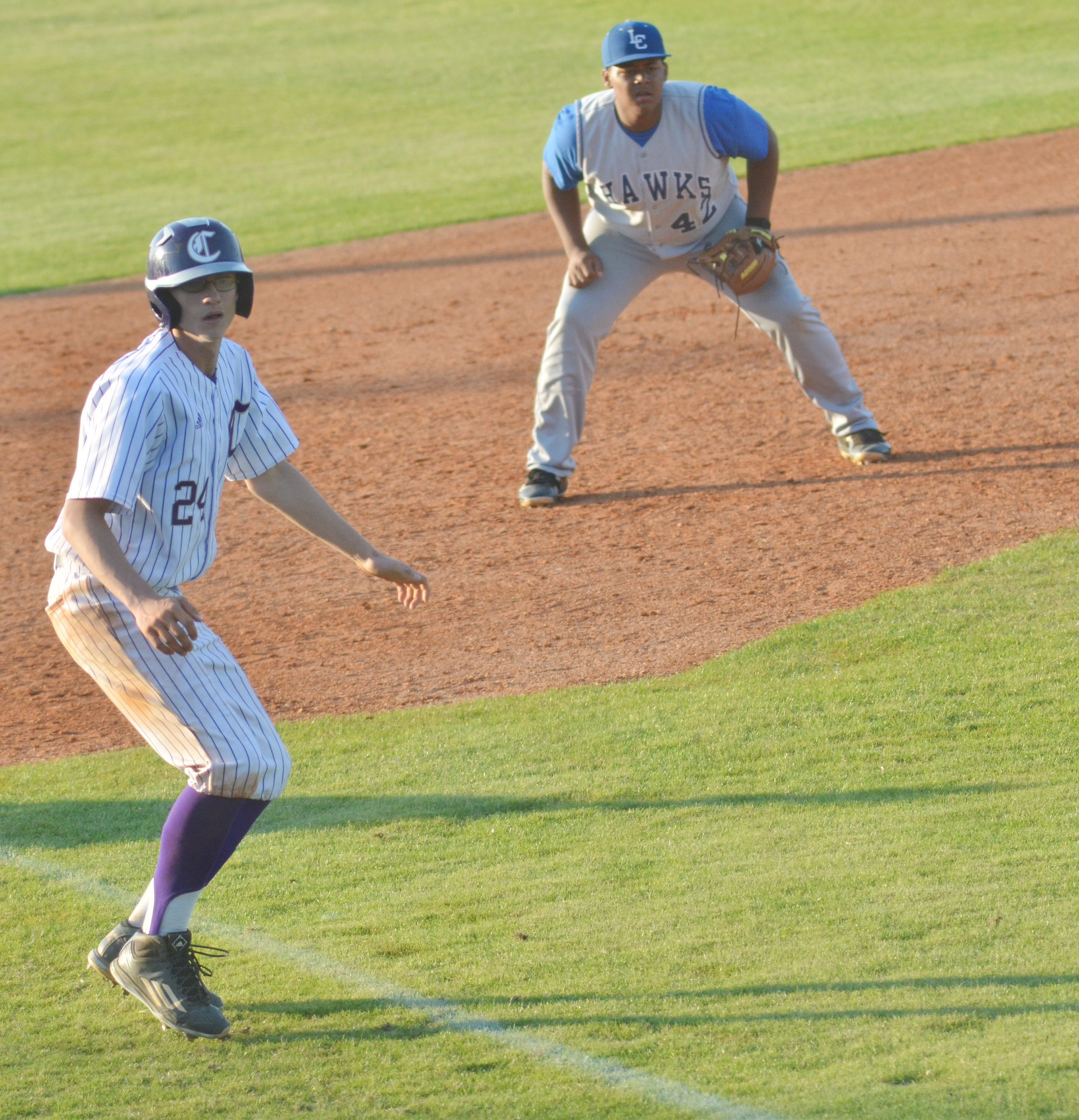 CHS freshman Brennon Wheeler runs home.