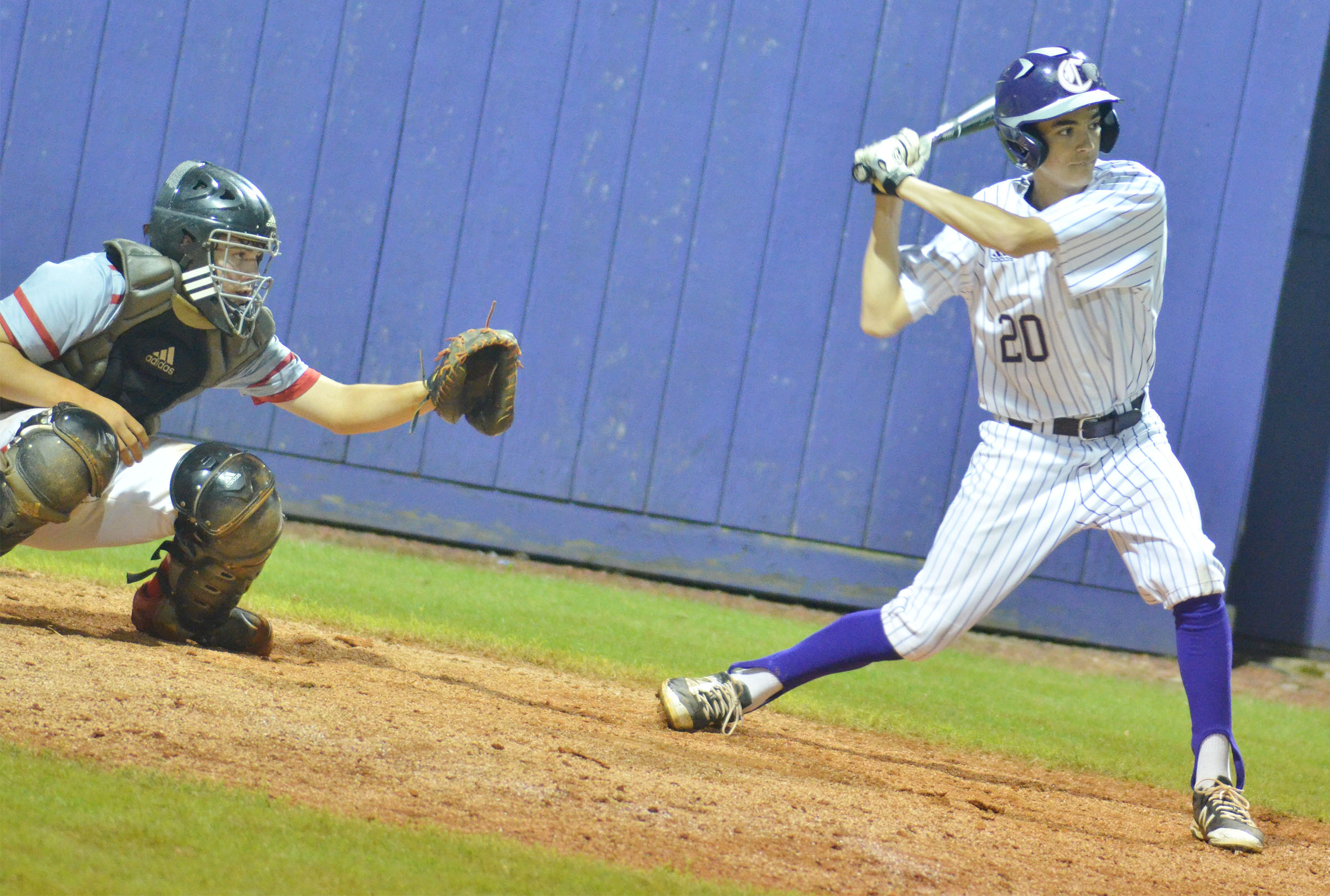 Campbellsville Middle School eighth-grader Kameron Smith bats.