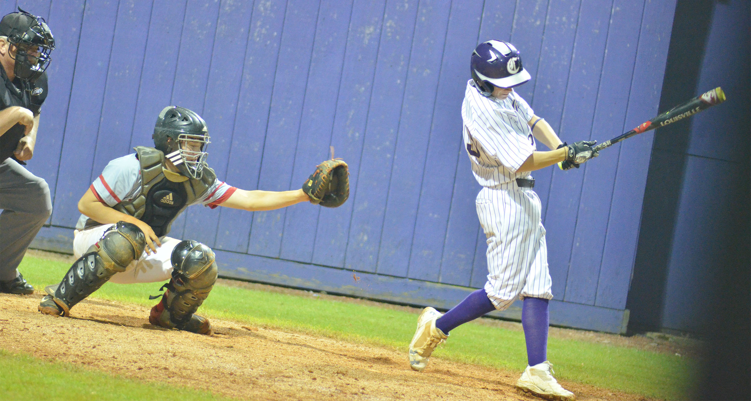 Campbellsville Middle School eighth-grader Blase Wheatley swings.